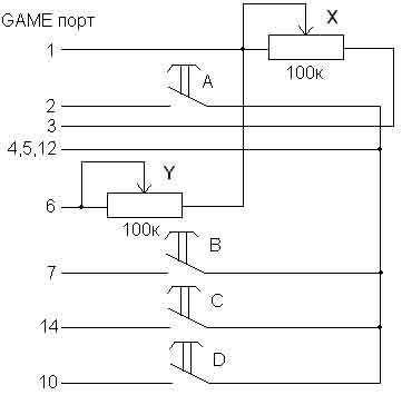схема педалей для игрового руля