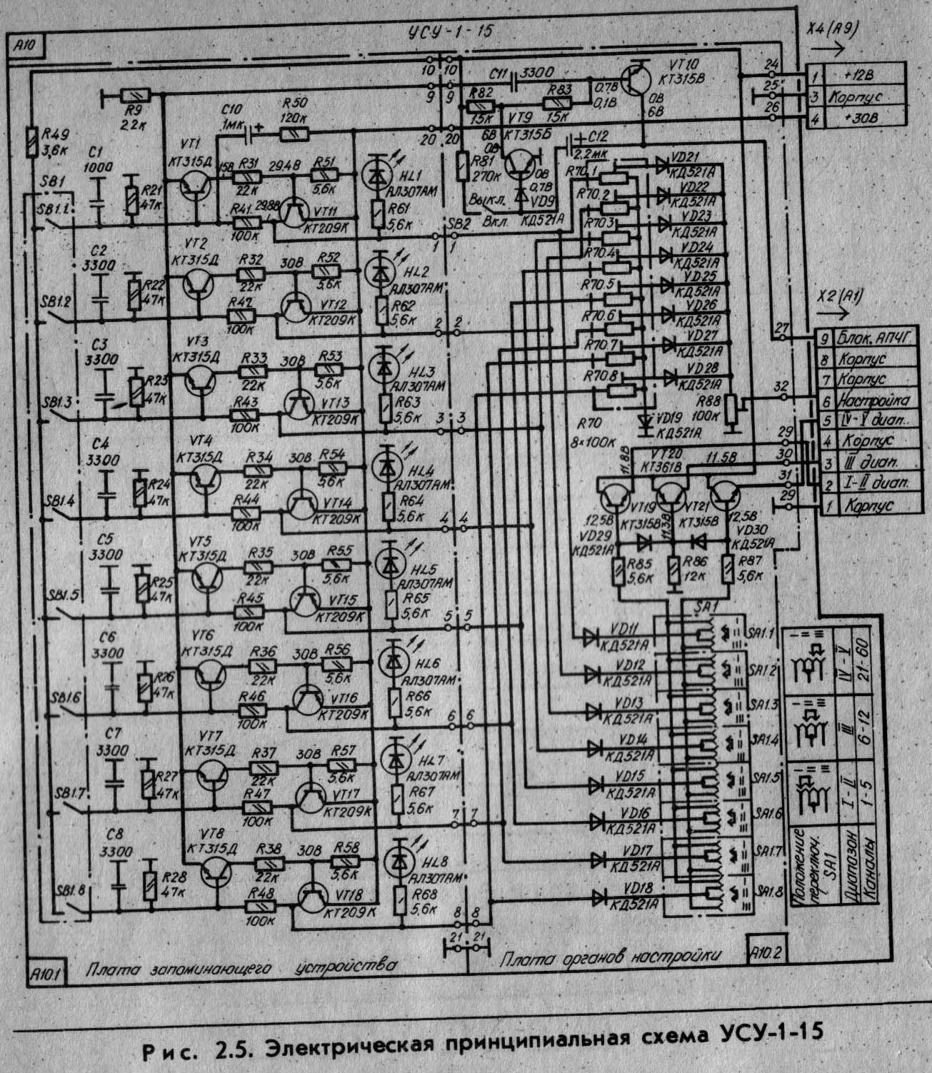 Принципиальная схема усу-1-15 схема